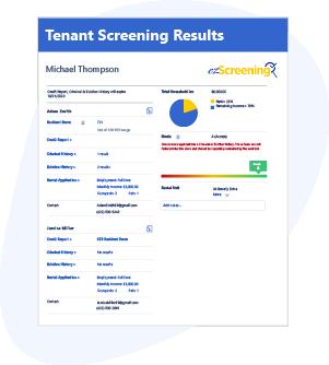 Tenant Screening Results