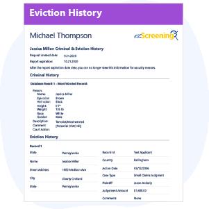 Eviction History