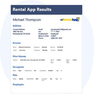 Rental App Results